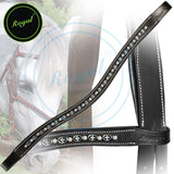 Royal Designer Metal Interlinked White Crystal Brow Band. - Bridles & Reins. - 3