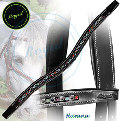 Royal Small Elegant & Attractive Multi U-Shaped Crystal Brow Band. - Bridles & Reins. - 1