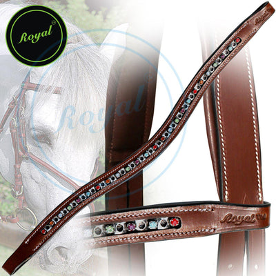 Royal Small Elegant & Attractive Multi U-Shaped Crystal Brow Band. - Bridles & Reins. - 3