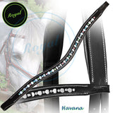 Royal Small Magnificent Multi Crystal and Round Metallic U Shaped Brow Band. - Bridles & Reins. - 3