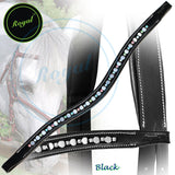 Royal Small Magnificent Multi Crystal and Round Metallic U Shaped Brow Band. - Bridles & Reins. - 1