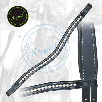 ExionPro Designer Transparent White linked Crystal Browband-Bridles & Reins