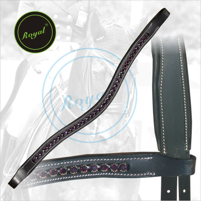Royal Designer Purple linked U-Shaped Crystal Brow Band.