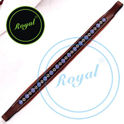 Royal Designer Alternate Large Blue & Tiny Metallic Balls Padded Brow Band.