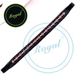 Royal Designer Alternate Large & Small Pink Crystal Padded Brow Band.