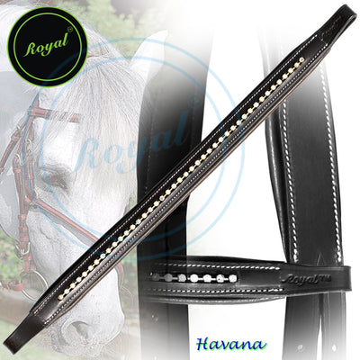 ExionPro Elegant Tiny Sparkling Crystal Padded Browband-Bling Browbands from Bridles & Reins