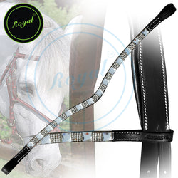 Royal Designer Alternate Large & Tiny Silver Crystal U-Shaped Brow Band.