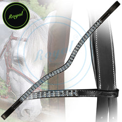 Royal Designer Metallic Colored Tablet Chain Pattern U-Shaped Brow Band.