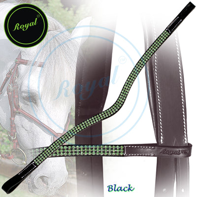ExionPro Designer Beauty Green Crystal Browband-Bridles & Reins