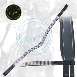 Royal Designer Beauty Purple Crystal U-Shaped Brow Band.