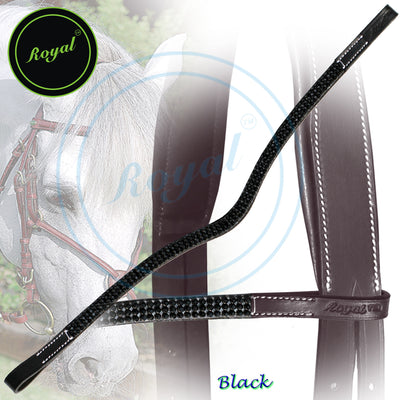 Royal Designer Black Beauty Crystal U-Shaped Brow Band.