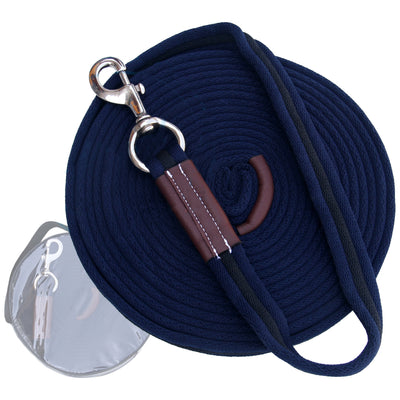 ExionPro Contrast Dark Blue with Black Color Web Cushion Leads.-Bridles & Reins