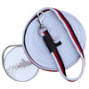 ExionPro Contrast White, Red & Blue Color Web Cushion Leads.-Bridles & Reins