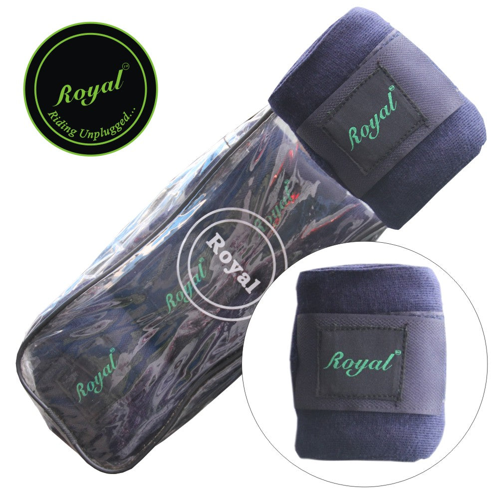 Royal Acrylic Standard Purple Bandages | Pack of 4-Bridles & Reins