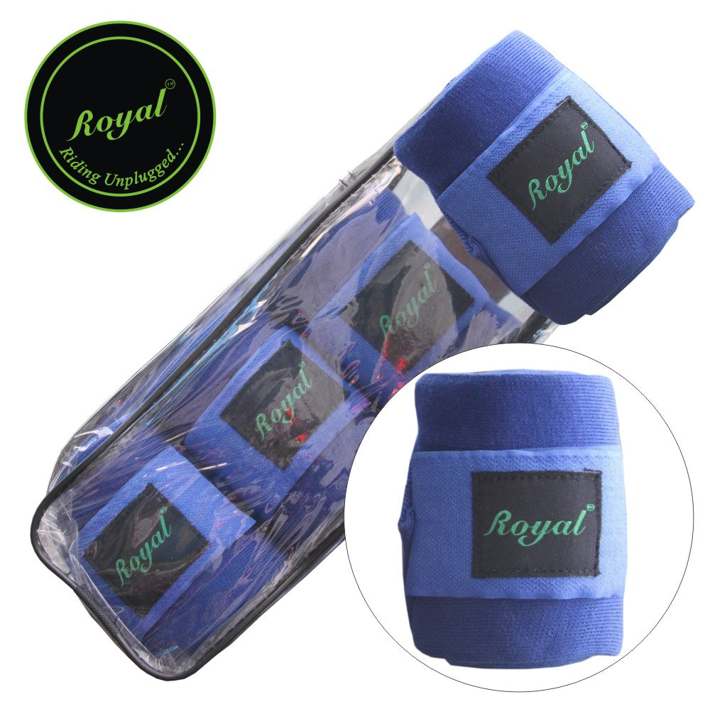 Royal Acrylic Standard Light Blue Bandages | Pack of 4-Bridles & Reins