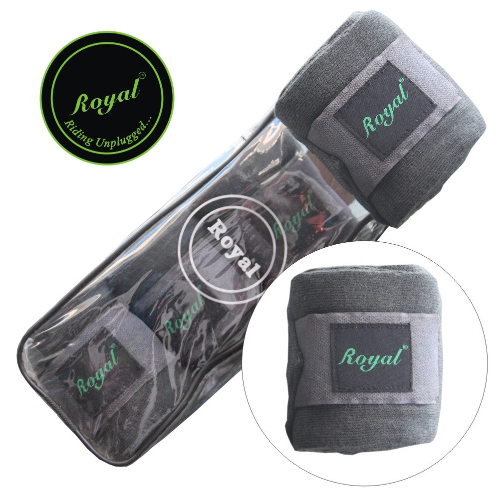 Royal Acrylic Standard Grey Bandages | Pack of 4-Bridles & Reins
