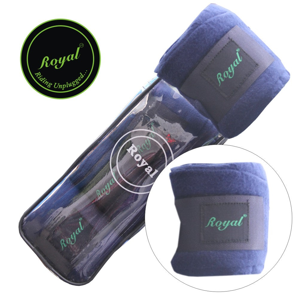 Royal Fleece Standard Purple Bandages | Pack of 4-Bridles & Reins
