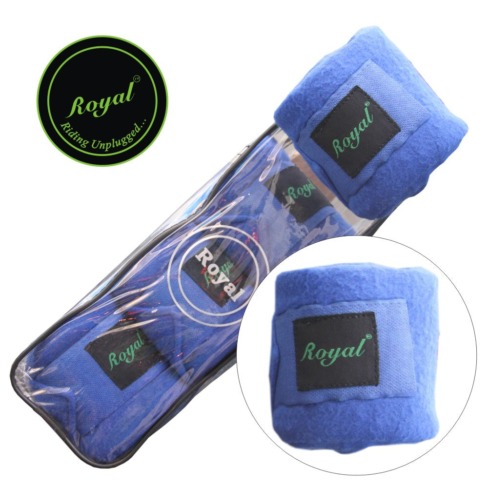 Royal Fleece Standard Light Blue Bandages | Pack of 4-Bridles & Reins