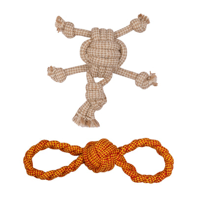 ExionPro Rope Dog Chew Toys for Interactive Play and Training Purpose, Play Throw Fetch- Figure 8, Turtle-Bridles & Reins