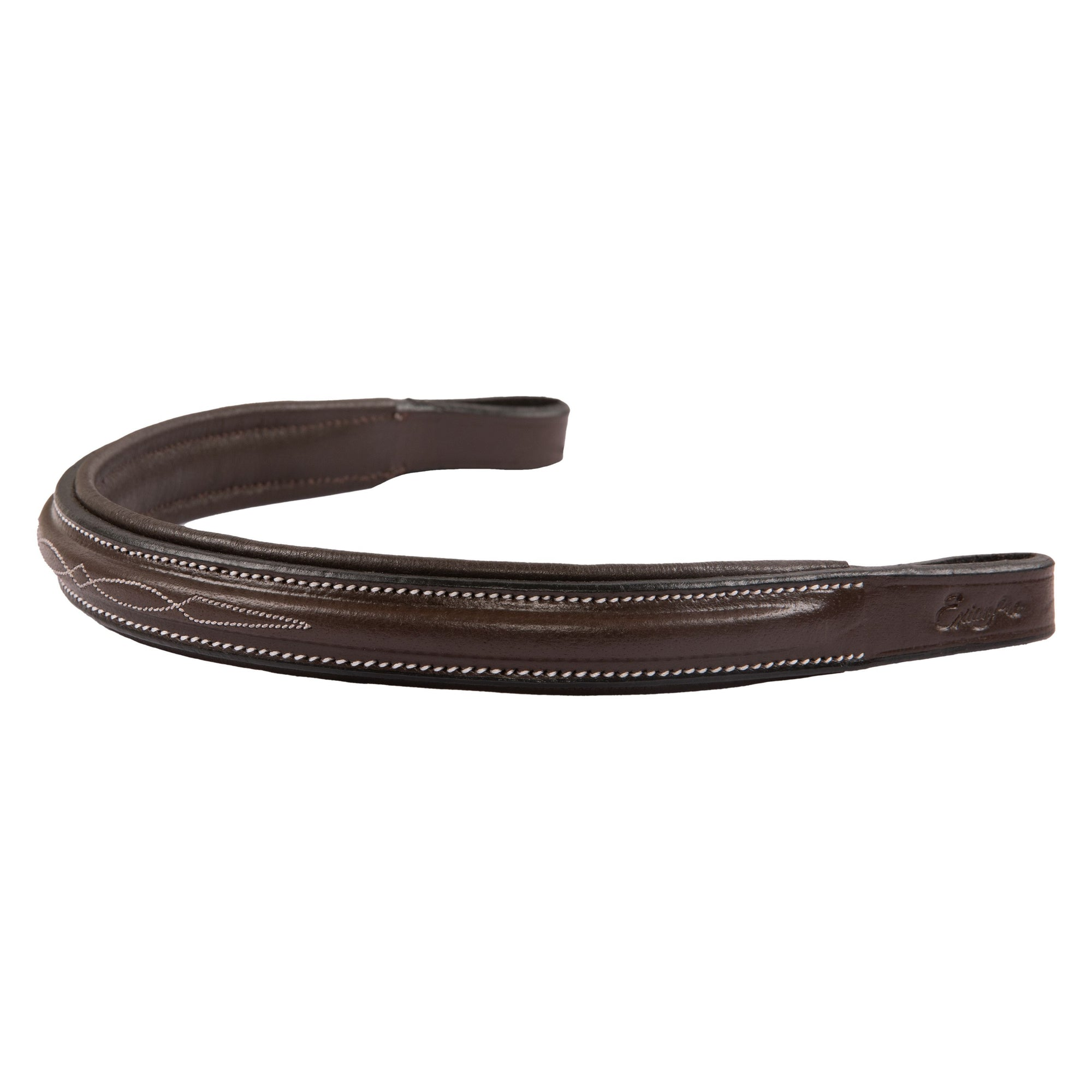 ExionPro Fancy Stitched Square Raised Padded Browband-Bridles & Reins