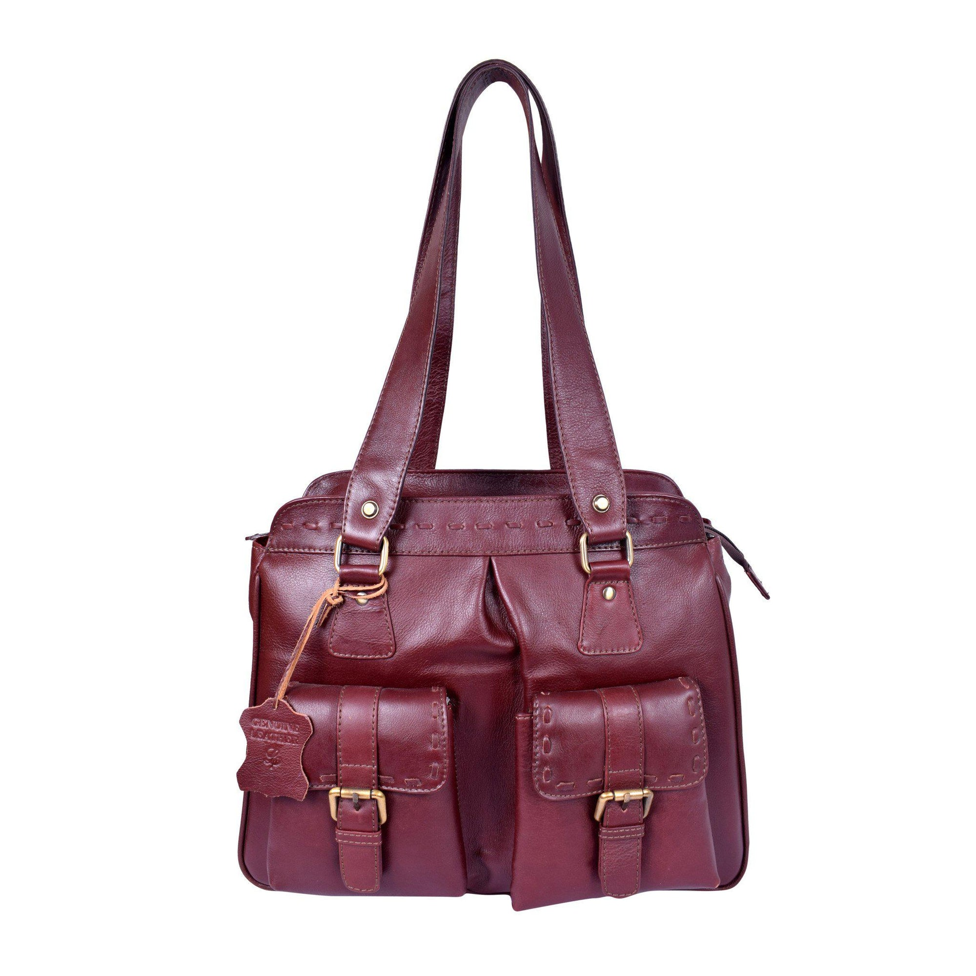 Royal Maroon Elegant Trendy Multipocket Heavy Duty Bag.