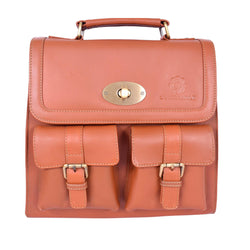 Royal Tan Elegant Multi Pocketed Hand Carrying Bag.