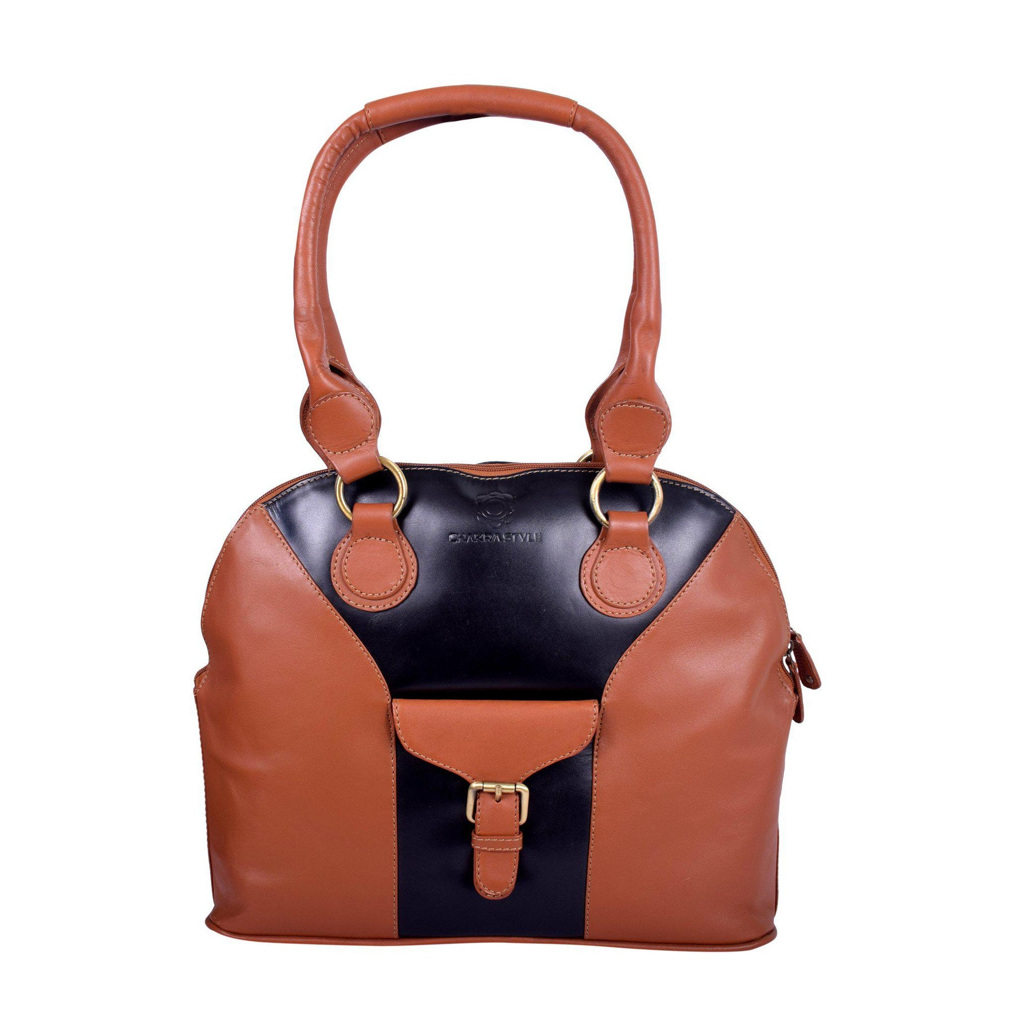 Royal Trendy Stylish Contrast Leather Bag.