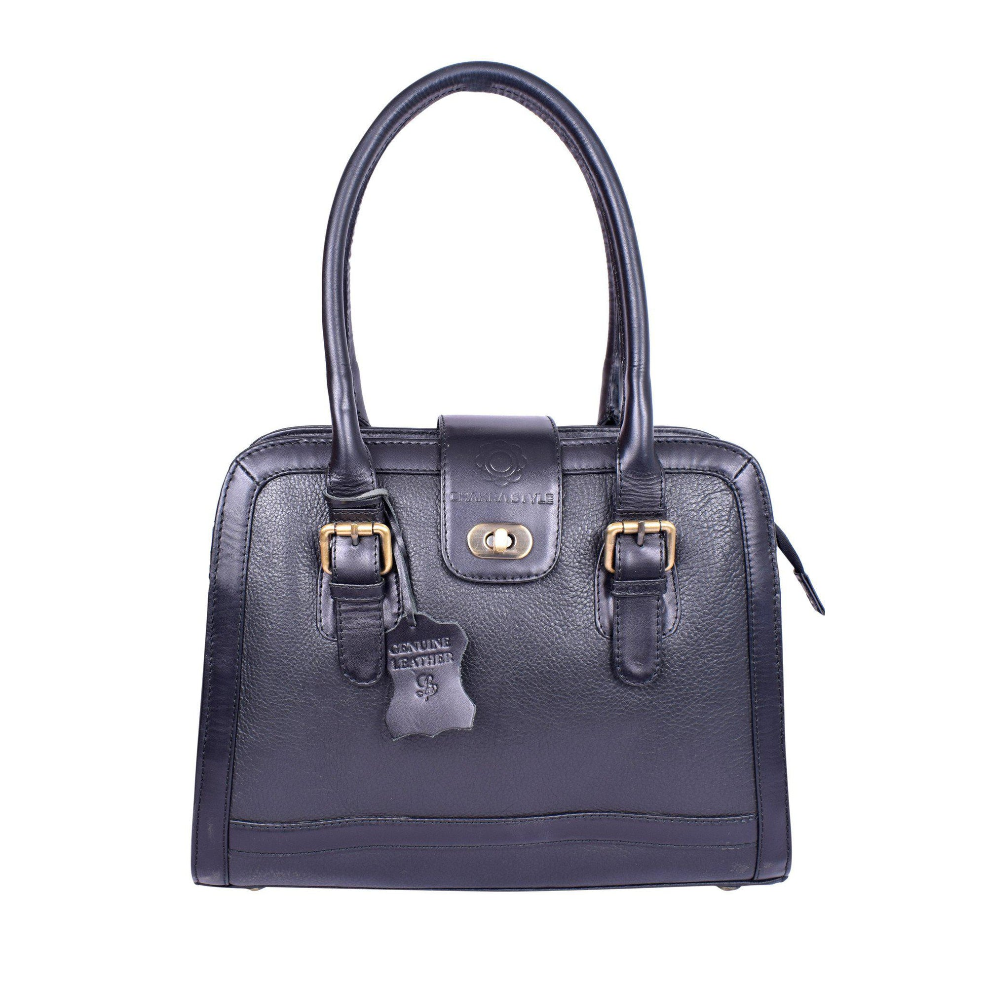 Royal Elegant Black Stylish Flap Lock Bag.