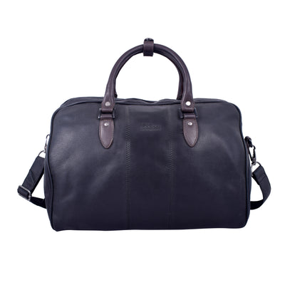 Royal Pressed Grain Leather Black Top Carry Bag.