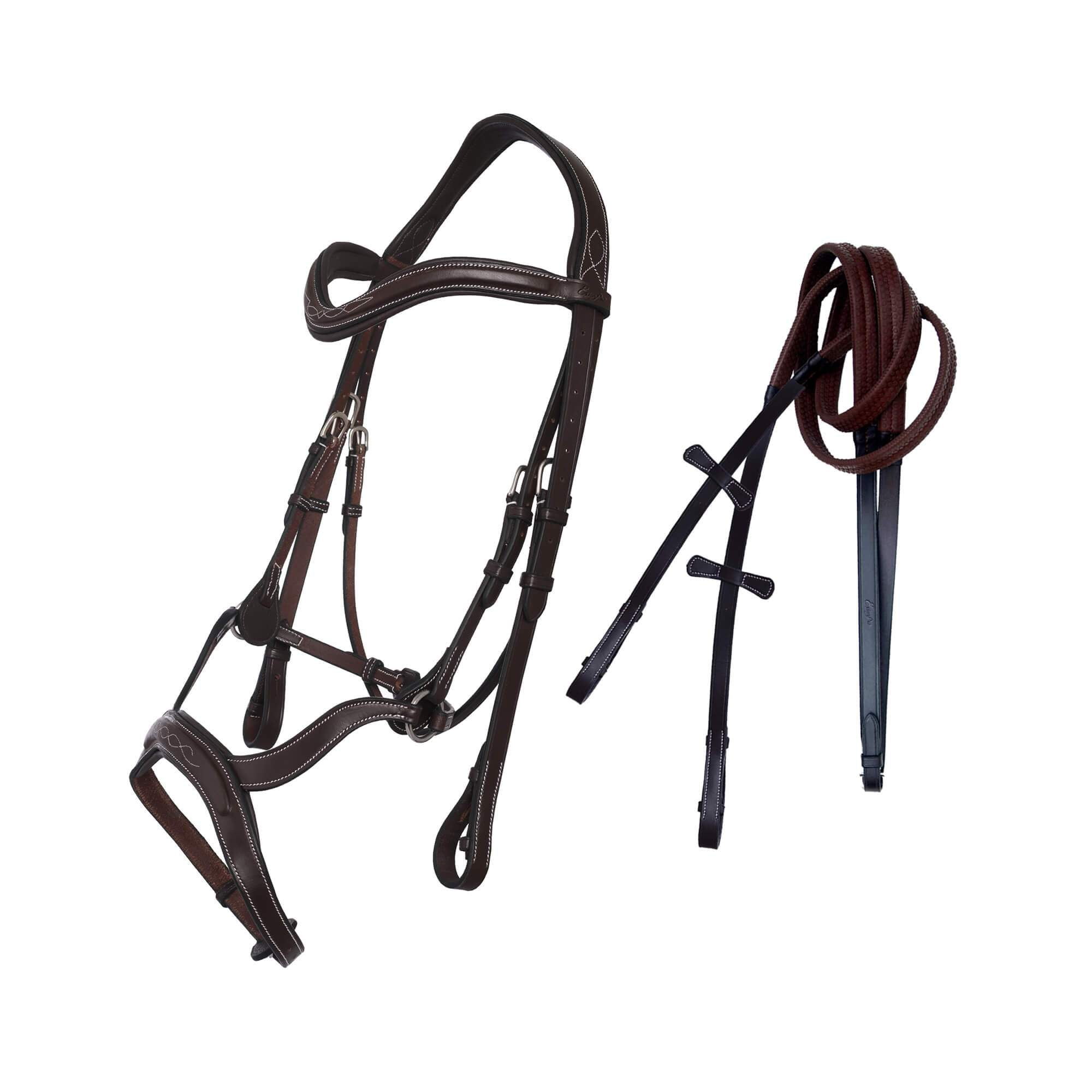 ExionPro Padded Innovative Combined Flash Unique Cut Anatomical Bridle & Reins-Bridles & Reins