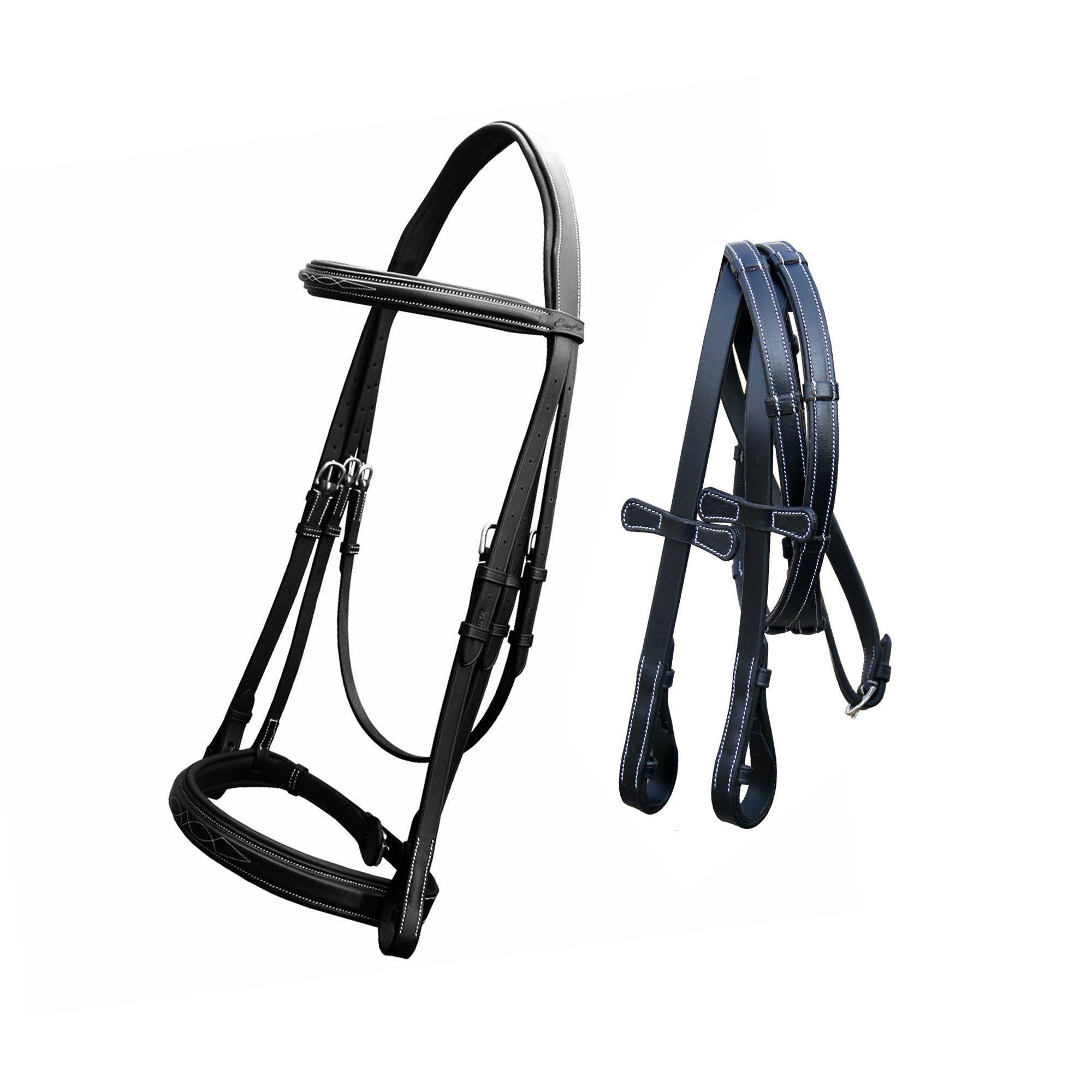English Bridles-ExionPro Padded Hunter Bridle with Reins-Bridles and Reins