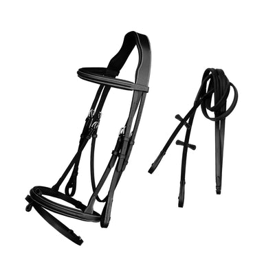 English Bridles-ExionPro Detachable Flash New Thin Raised Bridle & Reins-Bridles and Reins