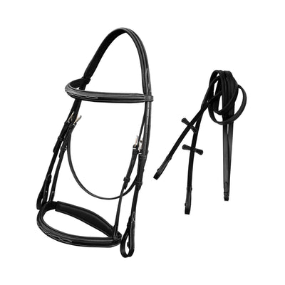 English Bridles-ExionPro Designer Fancy Snaffle Bridle with Rubber Reins-Bridles and Reins