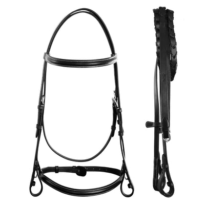 ExionPro Affordable Traditionally Raised Bridle With Laced Reins