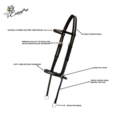 ExionPro Bitless Bridle with Reins-Bridles & Reins