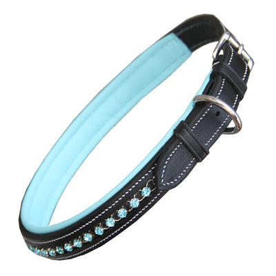 ExionPro Blue Bling Dog Collar-Bridles & Reins