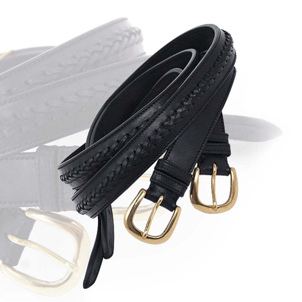 ExionPro Leather Braided Belt-Bridles & Reins