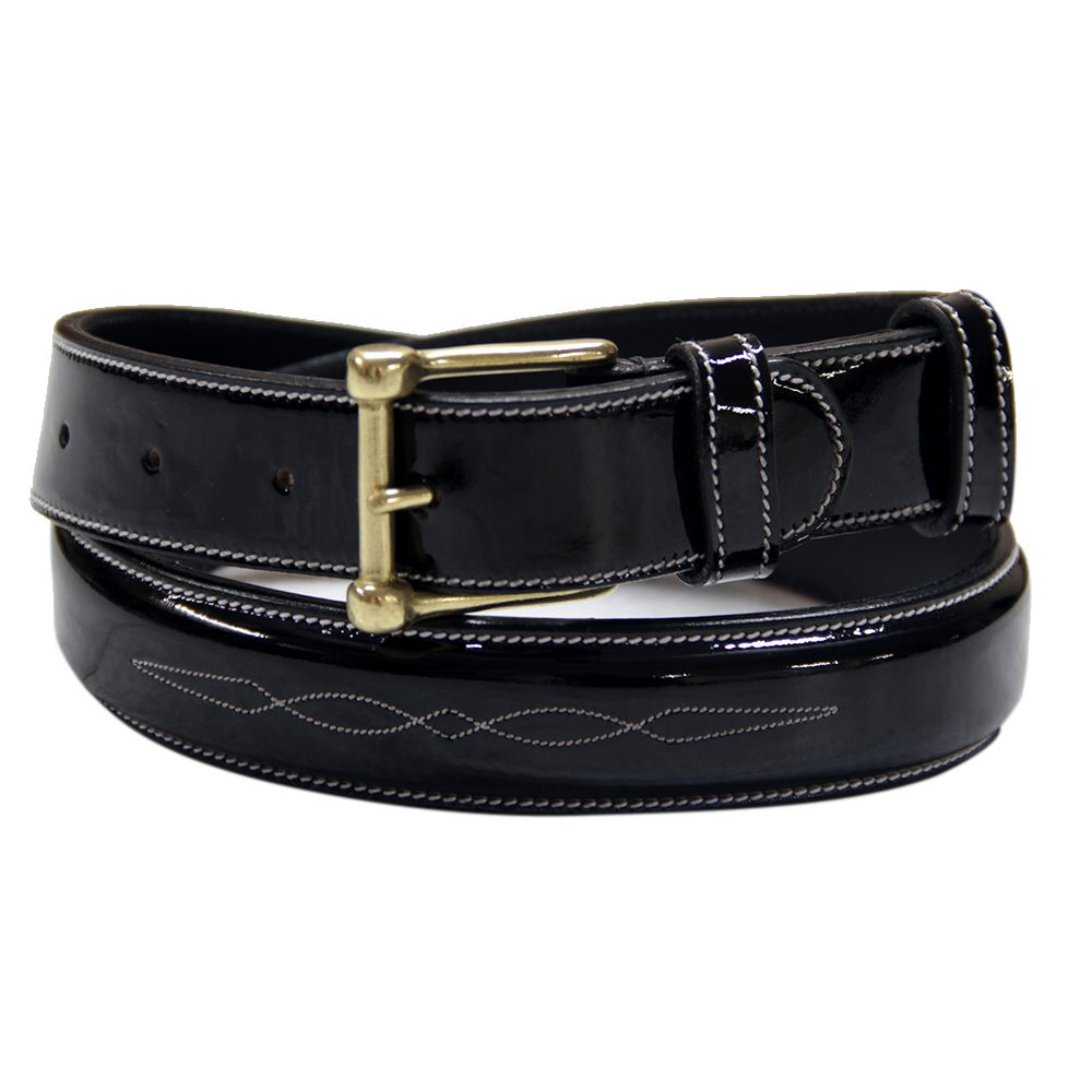 ExionPro Glossy Leather Fancy Stitched Belt-Bridles & Reins