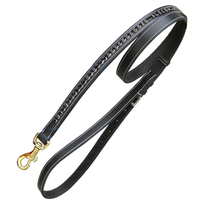 ExionPro Black Bling Dog Lead-Bridles & Reins