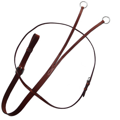 ExionPro Flat Leather Running Martingale-Bridles & Reins