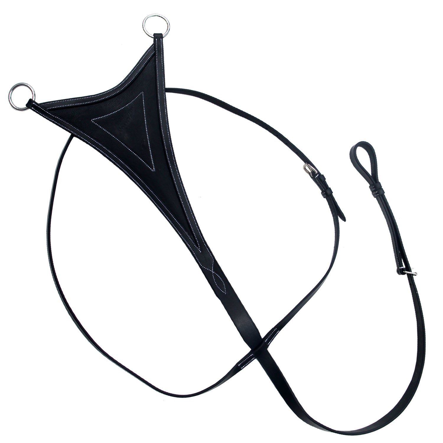 ExionPro Running Martingale for Horses with Soft Leather Bib-Bridles & Reins