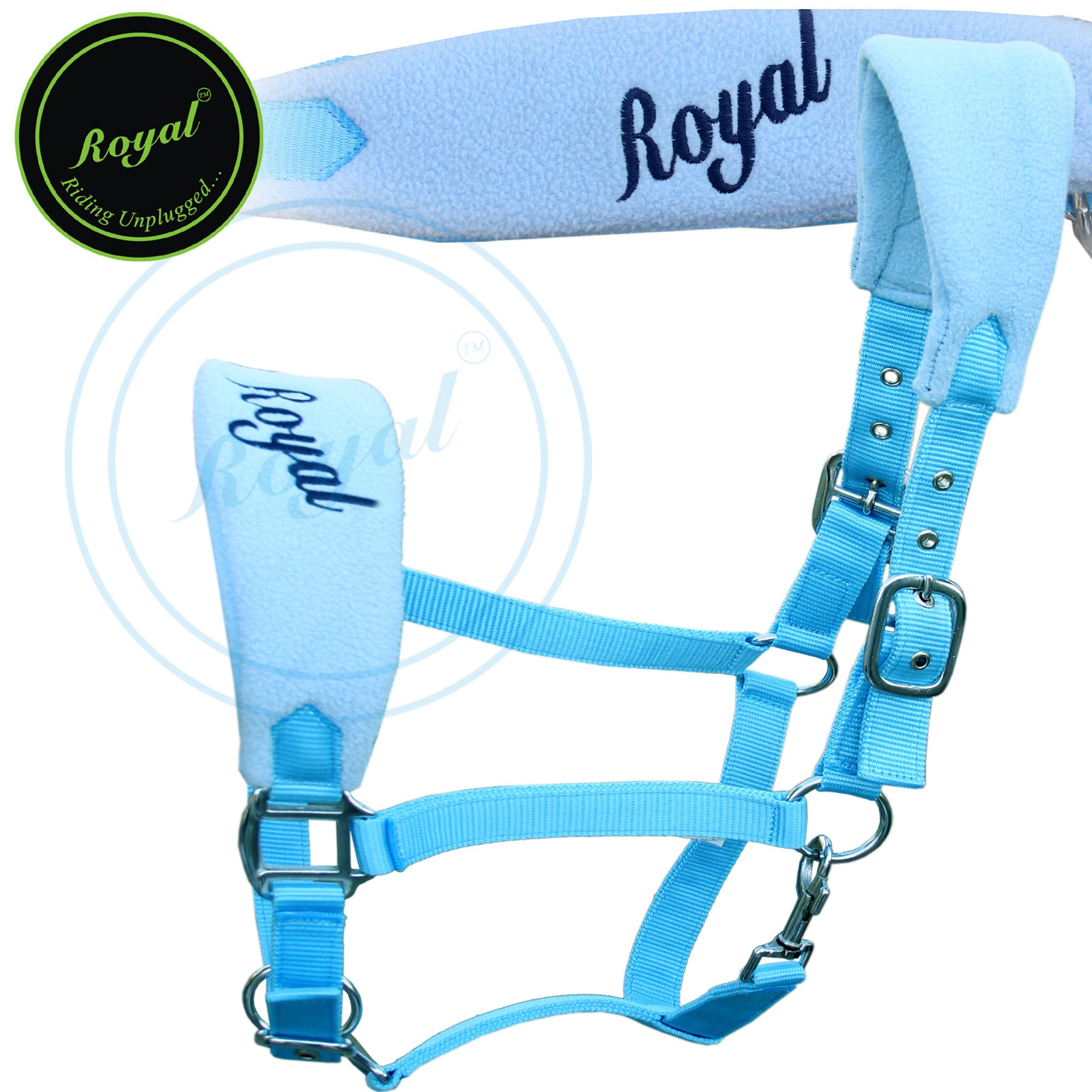 Fleece Anatomic Shaped Halters-Horse Halters from Bridles & Reins