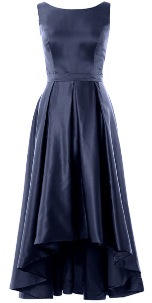 MACloth Hi-Lo Bridesmaid Dresses Sleeveless Cocktail Wedding Party Formal Gown