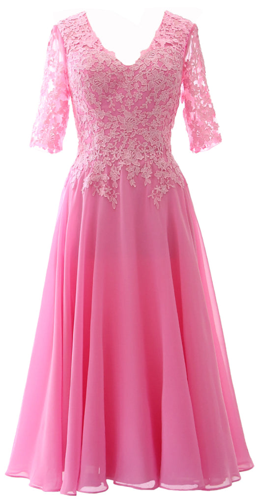 Sleeves Evening Half Mother Macloth Women The Dress Lace Bride Formal Gown Of AS534RjLqc
