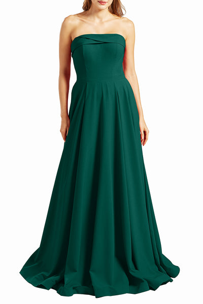 MACloth Women Prom Dresses Strapless Long Formal Evening Military Ball Gown