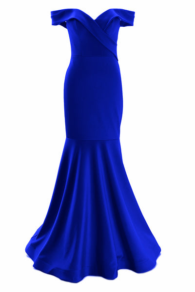 MACloth Women Off Shoulder Mermaid Long Formal Prom Dress Wedding Party Gown