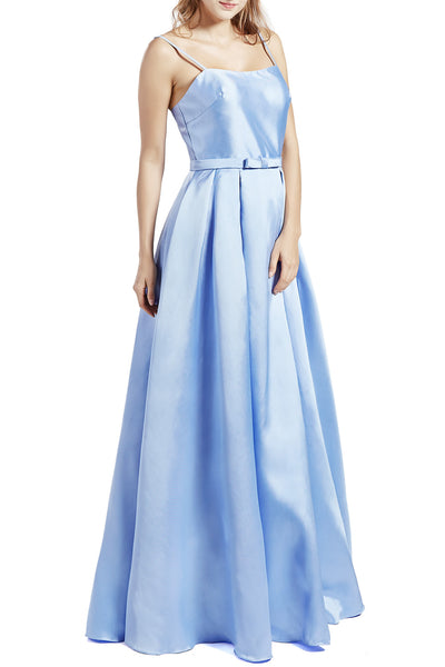 MACloth Women Long Sleeveless Satin Prom Party Dresses Homecoming Evening Gown