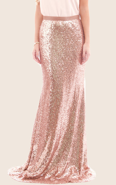 MACloth Sheath Maxi Sequin Skirt