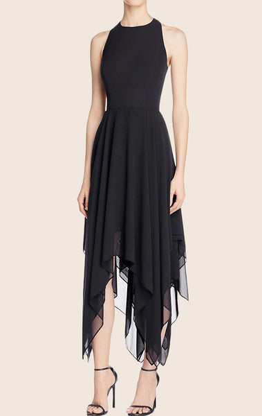 MACloth High Low Chiffon Cocktail Dress Cut Out Formal Party Gown