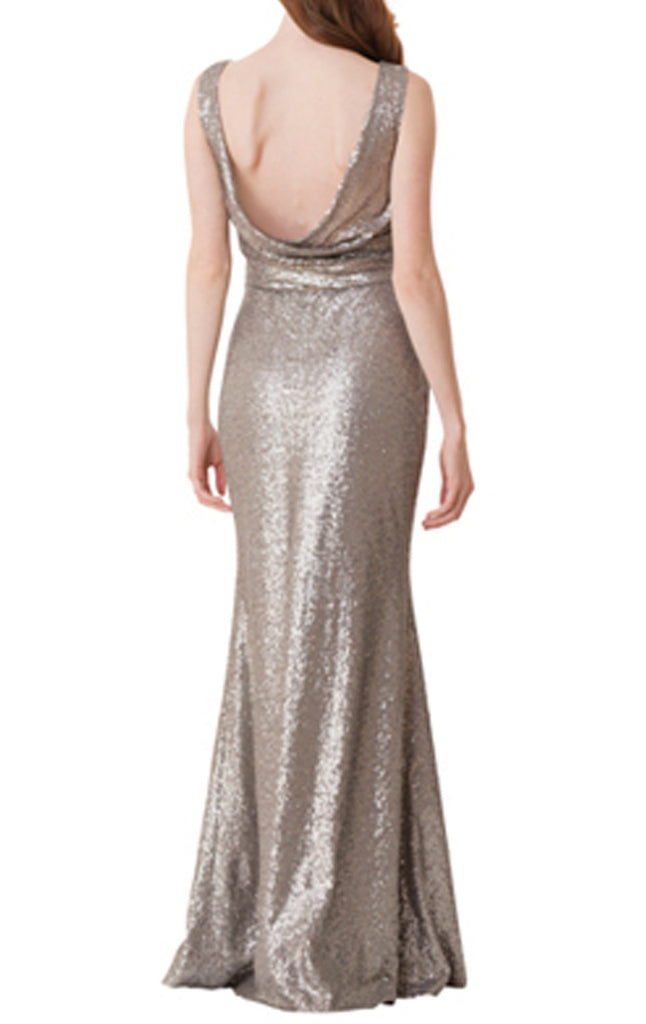 MACloth Women Mermaid Straps Sequin Long Prom Evening Gown Formal Party Dress (EU46, Negro)